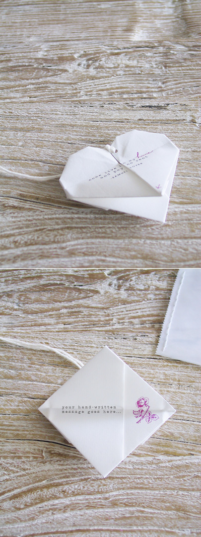 Origami Heart Invitation from Amy Moss